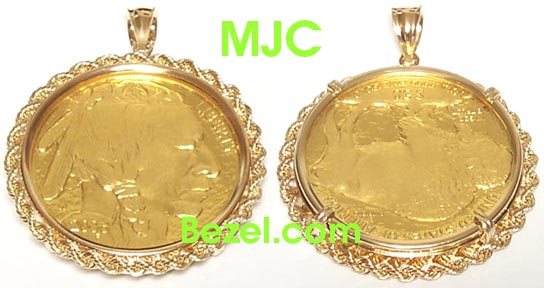 Gold Coin Bezels Wholesale Protective 14k Gold Coin Bezel