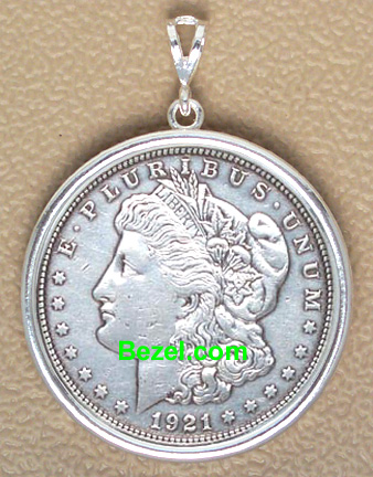 Sterling Silver Coin Bezel Pendants